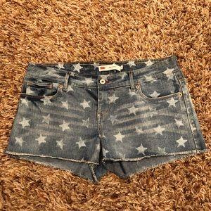 Levi's - star shorts size 13